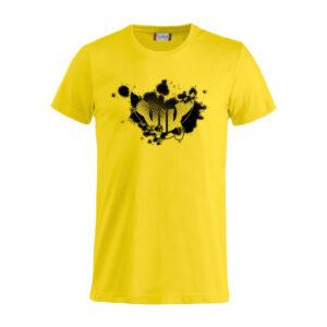 T-shirt Emblem, gul