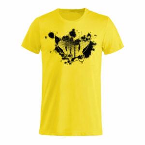 T-shirt Emblem Barn, Gul